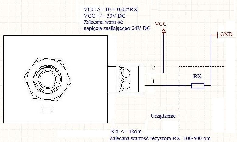 schemat podłączenia zadajnika prądowego